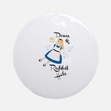 Down the Rabbit Hole Ornament (Round)