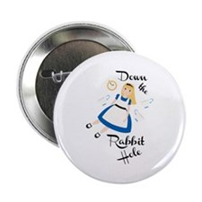 """Down the Rabbit Hole 2.25"""" Button (10 pack)"""