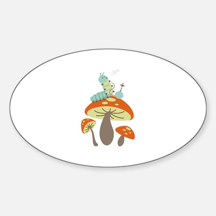 Mushroom Caterpillar Decal