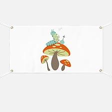 Mushroom Caterpillar Banner