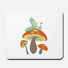 Mushroom Caterpillar Mousepad