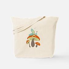 Mushroom Caterpillar Tote Bag
