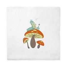 Mushroom Caterpillar Queen Duvet