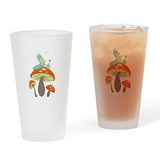 Mushroom Caterpillar Drinking Glass