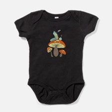 Mushroom Caterpillar Baby Bodysuit