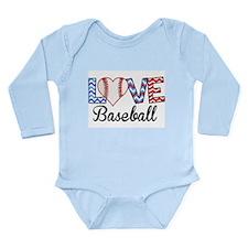 LOVE Baseball Body Suit