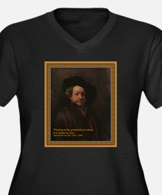 Rembrandt van Rijn, self portrai Plus Size T-Shirt