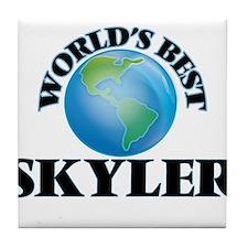 World's Best Skyler Tile Coaster