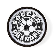 Soccer Grandpa Wall Clock