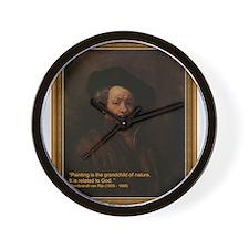 Rembrandt van Rijn, self portrait Wall Clock