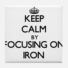 Keep Calm by focusing on Iron Tile Coaster