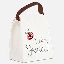 Ladybug Jessica Canvas Lunch Bag