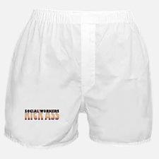 Social Workers Kick Ass Boxer Shorts