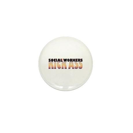 Social Workers Kick Ass Mini Button (10 pack)