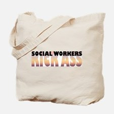 Social Workers Kick Ass Tote Bag