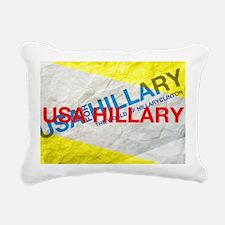 Hillary Clinton 2016 Rectangular Canvas Pillow