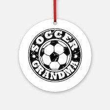 Soccer Grandma Ornament (Round)