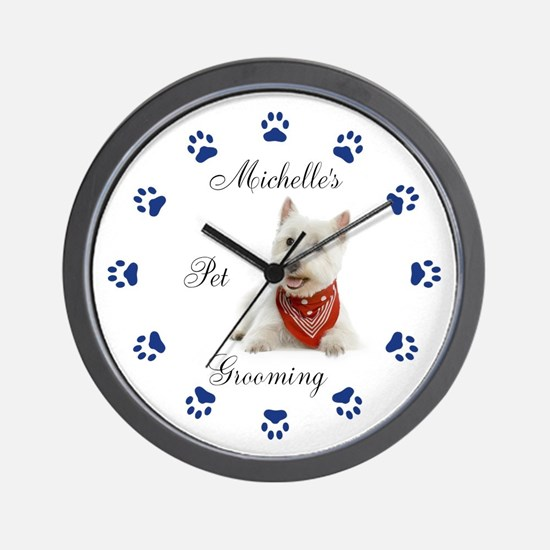 Pet Groomer Clock 111 Wall Clock