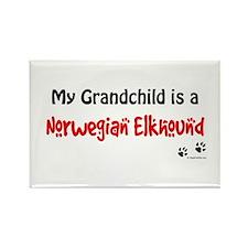 Elkhound Grandchild Rectangle Magnet