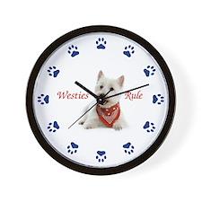 Westies Rule Clock Wall Clock