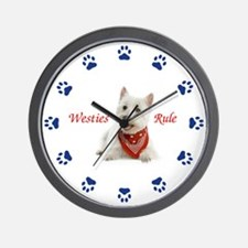 Westies Rule Clock Wall Clock