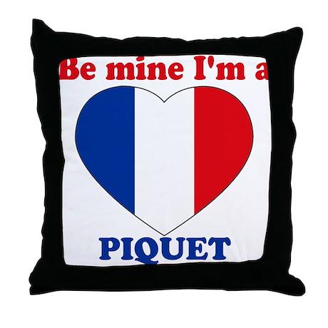 Piquet, Valentine's Day Throw Pillow