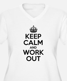 Keep Calm and Workout Plus Size T-Shirt