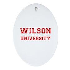 WILSON UNIVERSITY Oval Ornament