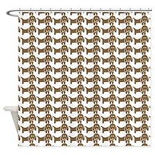 Dachshund Wiener Dog Pattern Shower Curtain