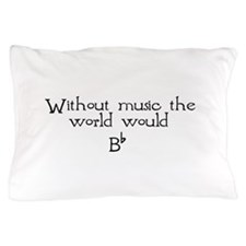 without music.png Pillow Case