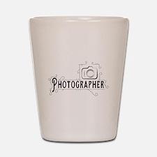 Photographer Shot Glass