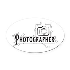 Photographer Oval Car Magnet