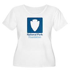 Npf Logo Women's Scoop Neck Plus Size T-Shirt