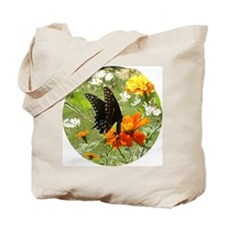 Black Swallowtail on Orange Tote Bag