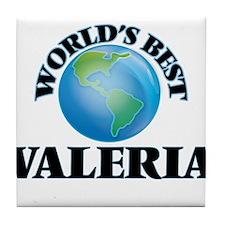World's Best Valeria Tile Coaster