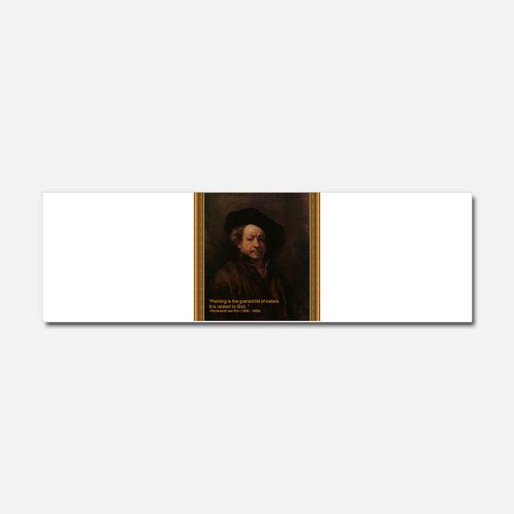 Rembrandt van Rijn Car Magnet 10 x 3
