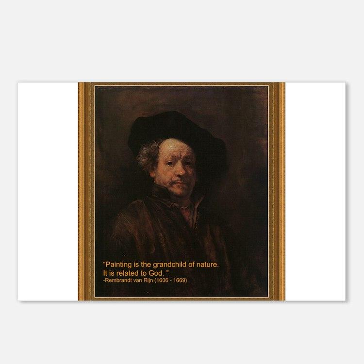Rembrandt van Rijn Postcards (Package of 8)