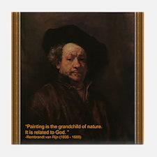Rembrandt van Rijn Tile Coaster