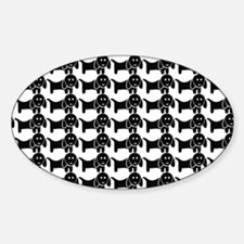 Black and White Dachshund Wiener Do Decal