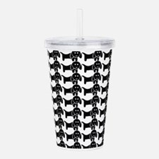 Black and White Dachsh Acrylic Double-wall Tumbler