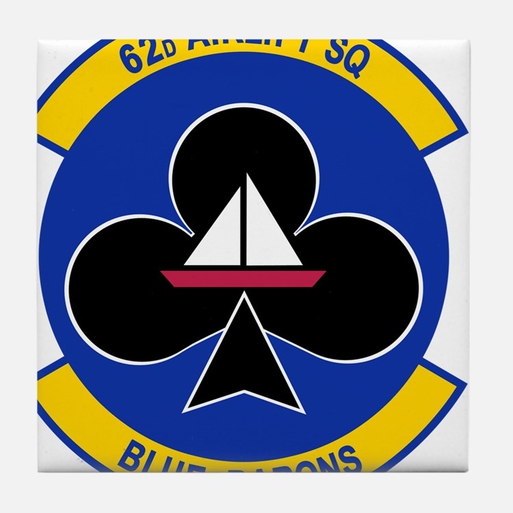 62nd Airlift Squadron.png Tile Coaster
