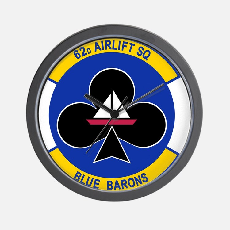 62nd Airlift Squadron.png Wall Clock