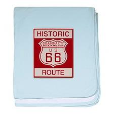 Oklahoma City Route 66 baby blanket