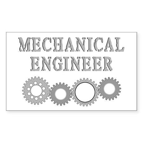 Mechanical Engineer Rectangle Sticker