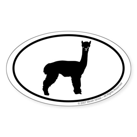 Alpaca Euro Oval Sticker