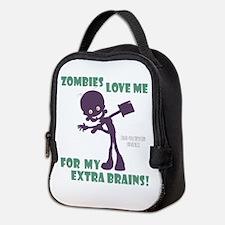 Zombies Love Me Iii Neoprene Lunch Bag