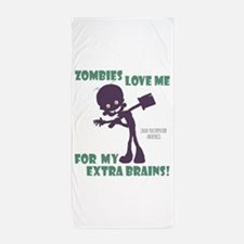 Zombies Love Me III Beach Towel