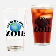 World's Best Zoie Drinking Glass