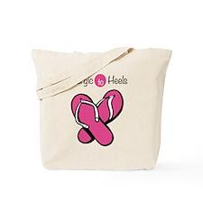 Allergic To Heels Tote Bag