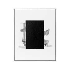 gray hockey player Picture Frame